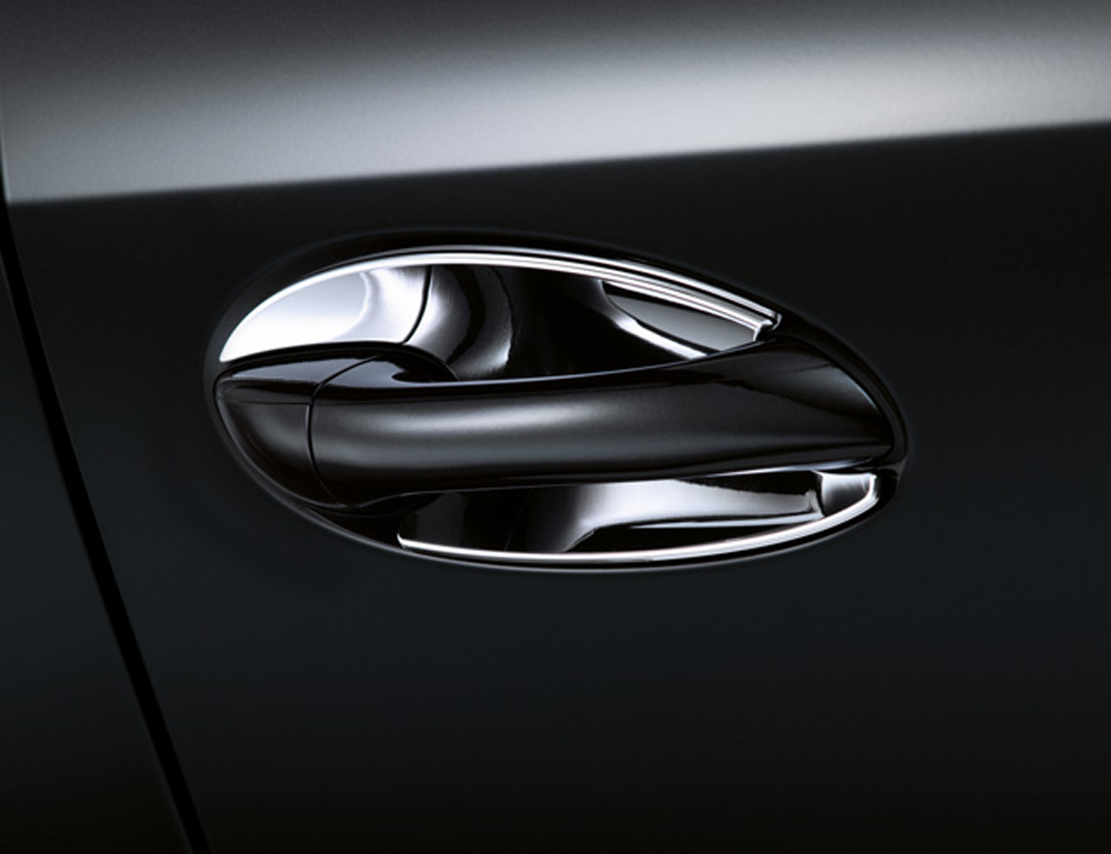 Mercedes oem chrome door handle recess covers e class for Mercedes benz car cover oem