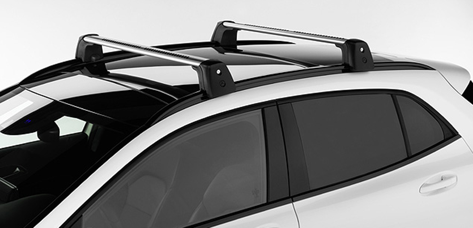 Mercedes benz oem roof rack cross bars basic carrier gla for Mercedes benz roof rails